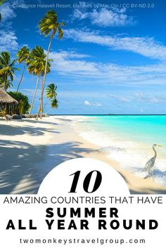 10 Amazing Countries That Have Summer All Year-Round There are plenty of cities/countries that always has summer, but I will be only discussing the 10 Amazing Countries that have summer all year long – okay, before you judge me, some of them are cities or states, wink!