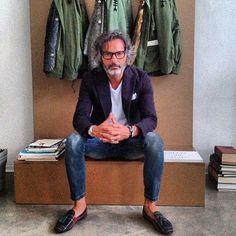 Marco Zambaldo - Superglamourous Made to Order shoes - Anky ❤️ Old Man Fashion, Autumn Fashion, Mens Fashion, Smart Casual Men, Stylish Men, Style Masculin, Look Street Style, Look Man, Mature Men