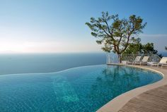 Located on the Amalfi Coast, Relais Blu is a boutique hotel offering 11 elegant suites overlooking Capri Island, panamoric views. Mediterranean Plants, Mediterranean Style, Capri Island, Pool Finishes, Building A Pool, Hotel Website, Sorrento, Amalfi Coast, Hotel Offers