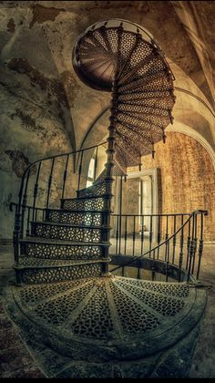 Abandoned castle interior (ruins of the Schaffgotsch residence in Kopice, Poland), 14th century. The Schaffgotsch family is one of the oldest noble Silesian families extant, dating back to the thirteenth century. Kopice is a village in the administrative district of Gmina Grodków, within Brzeg County, Opole Voivodeship, in south-western Poland.