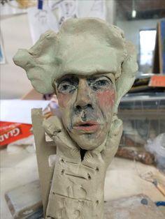 wip veronica cay ceramic sculpture