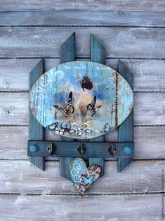 Ideas Vintage Decoracion Carteles For 2019 Decoupage Art, Decoupage Vintage, Tole Painting, Painting On Wood, Pallet Furniture, Painted Furniture, Wood Crafts, Diy And Crafts, Pallet Art