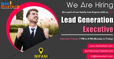 We are hiring for Lead Generation Executive   Immediate Joiners Preferred Walkin Between : 7:00 PM to 9:00 PM :- Monday-Friday  Interested candidates can send updated CV on hr@bizmartech.com Contact - +91-7996307236 / 8073053544  #lead #hiring #b2bhiring #job #jobs #nipani #nipanilocation #nowhiring #kpa #arehiring #hiringclickapply #hiringclick #salary #careerarc #time #work #opening #jobopening #team  #read #openinghere #jobopeninghere #looking #readjobopening #business #JobListing We Are Hiring, Jobs Hiring, Monday Friday, Job Opening, Job S, Lead Generation, Career, How To Apply, Reading
