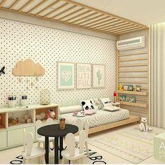 Quartinho montessori onde a criança tem acesso a todos os móveis e brinquedos pelo quarto. A proposta de um quarto montessoriano é desenvolver as habilidades das nossas crianças desde cedo. Quem tiver a oportunidade aplique essa ideia Autoria: Ac Arquitetura || #somosconteudo_ @decoreinteriores