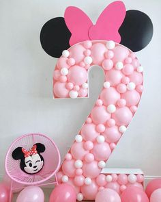 Birthday Balloons Numbers Minnie Mouse New Ideas Minnie Mouse Birthday Decorations, Minnie Mouse Balloons, Balloon Decorations Party, Spongebob Birthday Party, Mickey Mouse Birthday, Minnie Mouse Party, Princess Birthday, 2nd Birthday, Mickey Party