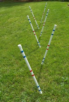 Dog Agility Equipment-Weave poles with guide by DogAgilityShop