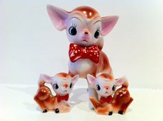 Vintage Kitsch 1950's Deers via I Heart Vintage