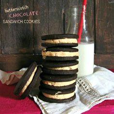 Butterscotch Chocolate Sandwich Cookies