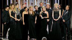 The moment Dakota Johnson watches Angelina Jolie's reaction to Jennifer Aniston handing out Golden Globe award is brilliant Golden Globe Award, Golden Globes, Kevin Spacey, Harvey Weinstein, Oprah Winfrey, Bridesmaid Dresses, Prom Dresses, Wedding Dresses, Evening Dresses