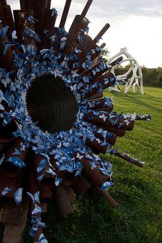 Tasha Lewis's Butterfly Swarm Sculptures #installation #guerilla #art