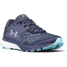 Under Armour Women's Charged Rebel Apollo Gray Blue Infinity - 8 M... (225 PEN) ❤ liked on Polyvore featuring shoes, mult, under armour, under armour shoes, gray shoes, blue color shoes and grey shoes
