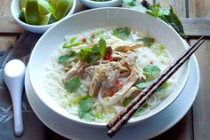 """Vietnamese Noodle Soup (""""Fast Pho"""").  Contains yummy Asian flavors and helps """"you get through the sniffles, warms your bones. . .""""  Made this -- it's  healthy and tastes great, with fun flavor combinations."""