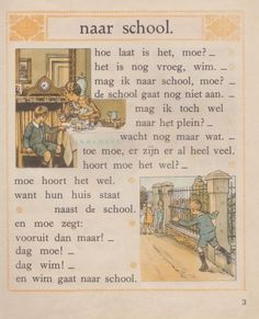 Cornelis Jetses Verzameling Dirk Sellis. Schoolplaten, boekjes, leesplankjes en veel meer. Cornelis Jetses is o.a. bekend van Ot en Sien Nursery Rhythm, Holland, Dutch Language, Time Pictures, Vintage Children's Books, Sweet Memories, Book Illustration, Childhood Memories, Childrens Books