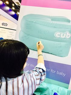 Tang, our interpreter, leaves a mark before we say goodbye! She's been a great help for the #CUB team at #CMEF in Shanghai