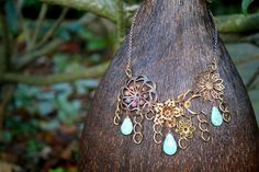 Vintage Brass and Copper Flowers with by authentiquedesign on Etsy, $160.00