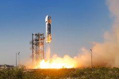 Blue Origin Launch In Texas, USA