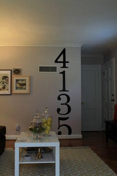 Entryway idea. Like the idea different color and font maybe...