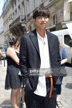 Gong Yoo is seen arriving at Louis Vuitton fashion show during Paris Fashion Week Menswear Spring/Summer 2018 on June 22 2017 in Paris France