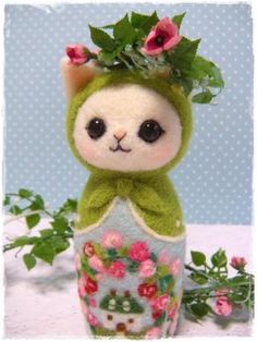 Needle felted Matryoshka doll - this is adorable.