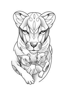 Tattoo Femeninos, Deep Tattoo, Cubs Tattoo, Easy Tattoos To Draw, Tattoos For Kids, Line Art Tattoos, Body Art Tattoos, Tatoos, Lion Tattoo Sleeves