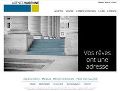 Site Internet Sur Mesure http://www.agencevarenne.fr/  Agence Varenne  7, Place Saint Sulpice - 75006 Paris - Tél. 01 45 55 79 10  42, rue Barbet de Jouy - 75007 Paris - Tél. 01 45 55 79 00  infos@agencevarenne.fr