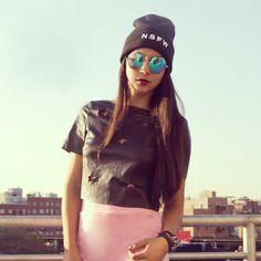 Loving all things leather on @NYLONshop!