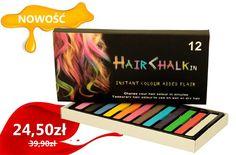 Kreda, kredki do włosów 12 kolorów   GRATIS !!!