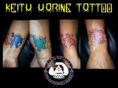 Keith Haring tattoo.
