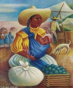 Mujer en el mercado. Miguel Covarrubias