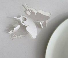 popup sommerfugl i papir