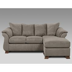 Sensations Sofa with Chaise (Available in Gray and Brown) | Weekends Only Furniture and Mattress