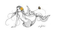 """Leilani"" Mermaid Art Print by Mary Beth"