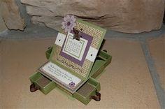 4-drawer Easel Calendar Card using Sonoma paper