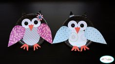 cute and easy owls from paper plates and other simple craft products