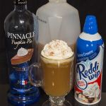 Thanksgiving in a Glass - pumpkin pie vodka, apple cider, cinnamon, nutmeg and whipped cream