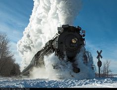 "The Real ""Polar Express"" locomotive 1225... This is not a link, but do a search! The real thing is right here in Michigan from thanksgiving till Christmas last I checked!"