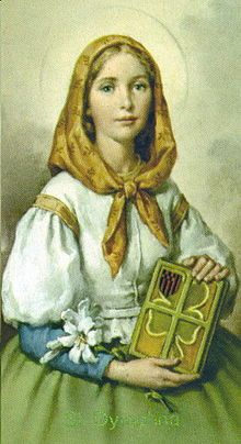 Saint Dymphna is the patron saint of mental and emotional illness.  I should have a shrine to her!