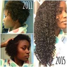 "#TBT Came across the old pics on the left and thought it would be helpful to curly girls wondering why their curl pattern is so loose even though they cut off all their relaxed ends. While I still have yet to figure that out...I do know that with patience, deep conditioning, moisturizing and limiting the amount of heat put on my hair, I was able to get my curls to ""pop"" over time."