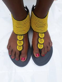 e1af789a1501 African beaded sandals for women- Maasai beaded sandals for women- Leather  sandals- Flat sandals- Wo