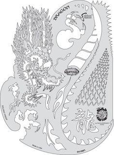Iwata-Medea Artool Freehand Airbrush Templates Kanji Master Dragon for sale online Free Stencils, Stencil Templates, Stencil Patterns, Stencil Painting, Stenciling, Art Patterns, Airbrush Supplies, Air Brush Painting, Airbrush Art