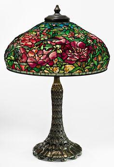 Peony table lamp - Tiffany Studios, early 20th century.