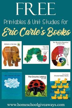 FREE Printables and Unit Studies for Eric Carle's Books – Education – preschool Preschool Literacy, Preschool Books, Preschool Themes, Preschool Lessons, Classroom Themes, Toddler Book Activities, Autism Preschool, Sequencing Activities, Homeschool Kindergarten