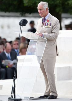 Speech:Prince Charles led commemorations, and spoke of the of the 'courage and bravery' of British soldiers killed at Passchendaele during the First World War