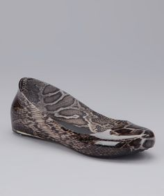 Take a look at this Brown Flat Snake Rain Flat on zulily today!