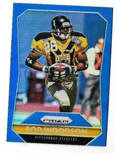 2015 Panini Prizm Prizms Blue #26 Rod Woodson Pittsburgh Steelers #PaniniPrizm #PittsburghSteelers