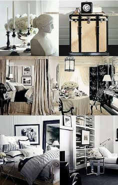 Ralph Lauren's Black and White Collection - luxurious fabrics, classic lines and artful décor. Simply Beautiful!   Interior Design/India Inc.