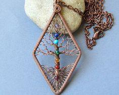 Chakra pendant Yoga-Necklace Tree-of-Life Pendant
