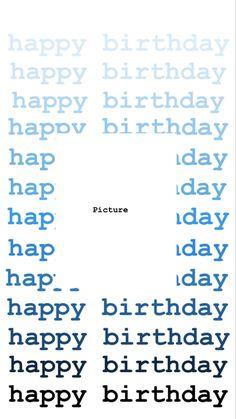 Creative Instagram Stories, Instagram Story Ideas, Instagram Quotes, Birthday Posts, Birthday Frames, Happy Birthday Template, Polaroid Picture Frame, Instagram Story Filters, Instagram Frame Template