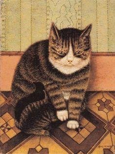 """""""Poes met twee jongen/Cat with two kittens"""" (SM)"""