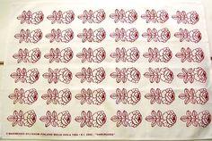 Marimekko Finland red Vihkiruusu tea towel
